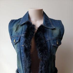 Jean Vest w/ Fur  B2